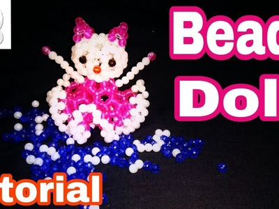 How to make beads doll tutorial || পুথির পুতুল বানানো.easy to make kitty dol