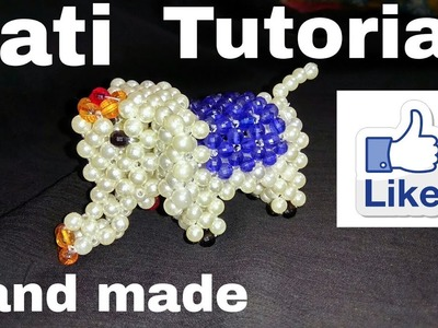 How to make beads Hati part-2. puthir elephant.puthir kaj.new collection