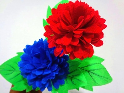 How to make beautiful flower by using old shopping bag.DIY Shopping bag flower.Best out of Waste