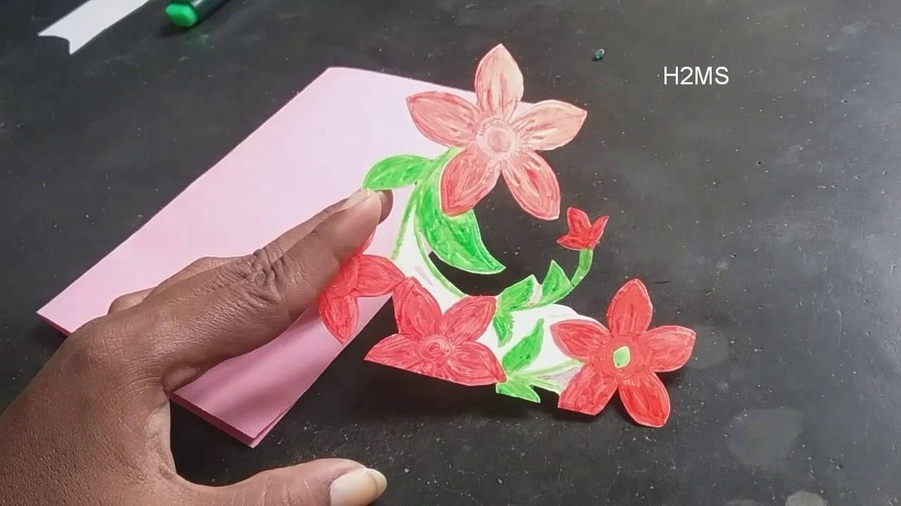 how to make simple greeting card at homehandmade greeting