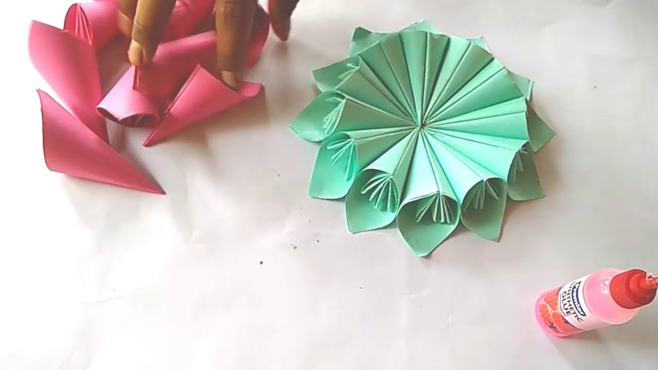 How To Make With Origami Paper Flower Tutorial Giant