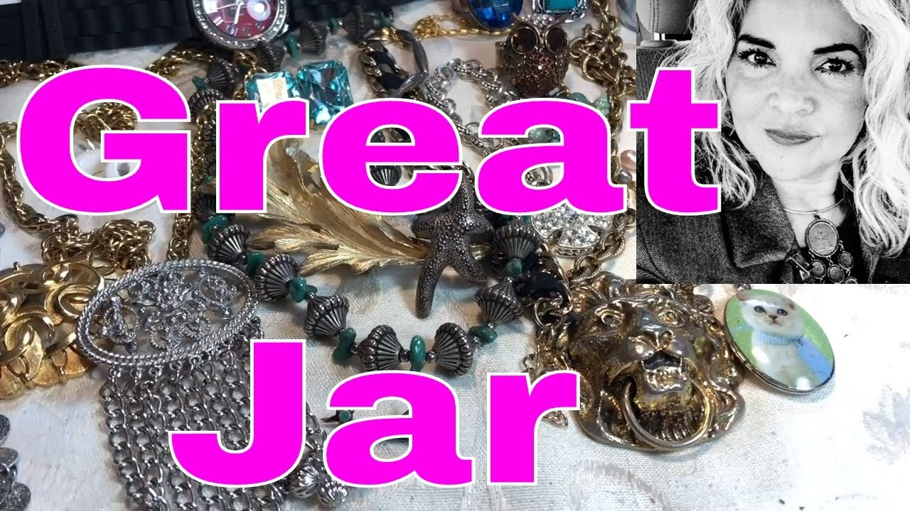 Jewelry Jar Unboxing Let's Open A Big Mystery GRAB BAG Jewels