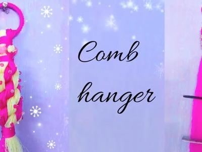 Macrame choti comb hanger  with beads.plastic wire or choti macrame