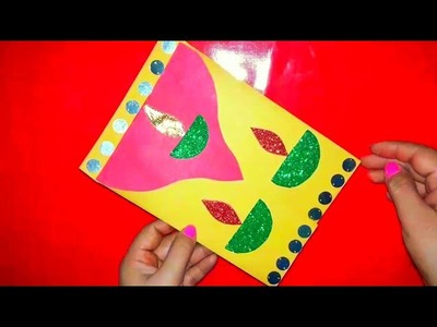 Make card. handmade greeting card new year. how to make new year card, easy simple diy card