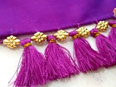 MCB's Single beads Saree kuchu.tessels desgin with simply different method