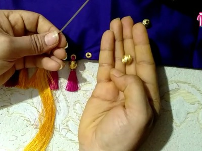 MCB's using 2types of beads how to make beautiful & easy kuchu.tessels  Totally new pattern