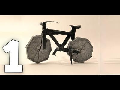 Origami Bicycle Tutorial [Jason Ku] Part 1# - Prereasing