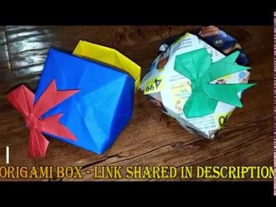 Origami - How to fold a paper Bow.Ribbon | Art & Cook Channel