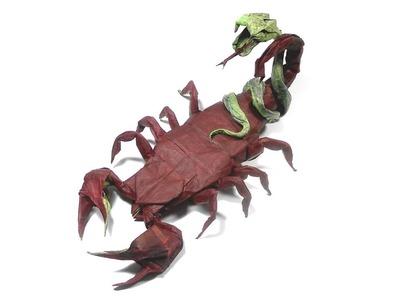 ORIGAMI SCORPIO - SNAKE TIME LAPSE (Author: ????) 折り紙  サソリ - ヘビ  Skorpion Schlange Scorpion