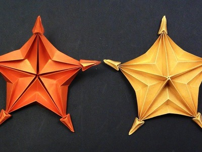 Origami STAR by Yakomoga  - Yakomoga EASY Origami tutorial