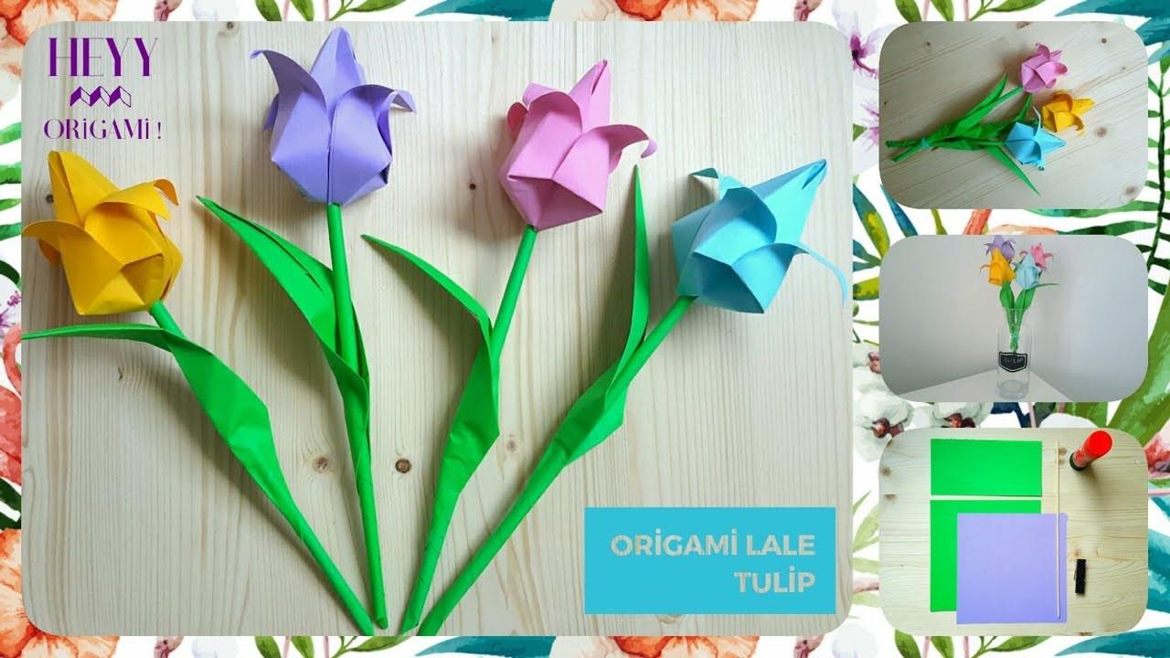 origami tuliphow to make easy paper origami flower tulip