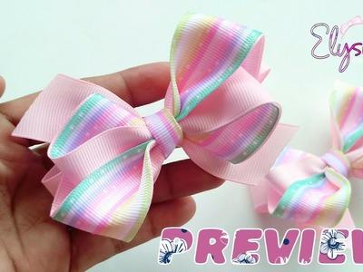 [PREVIEW] Laço Onda Fita N5 ???? Ribbon Bow ???? DIY by Elysia Handmade