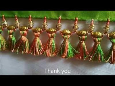 Saree Kuchu.tassel with mixed beads-easy tips