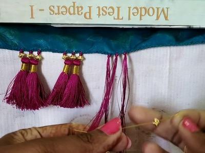 Saree Kuchu with Zari Thread I Saree Tassels making with Beads I Ladies Club