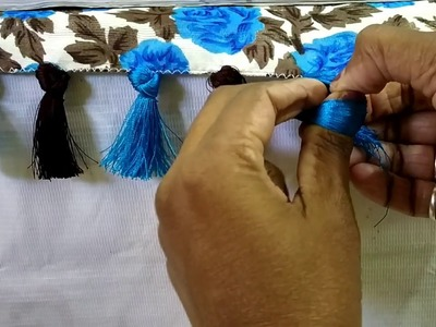 Single Knot Saree Kuchu Design I Saree Tassels without Beads I Saree Gonde Making I Ladies Club