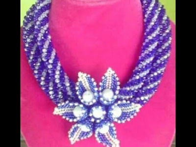 Steps of making this beaded jewelry