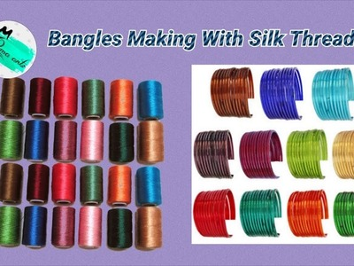 Trendy designer's bangle making with flower beads