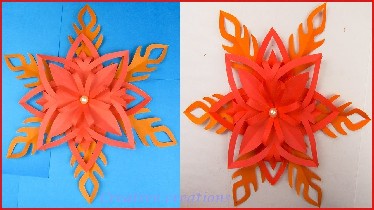 Very Easy Origami Flower Making For Home Decoration