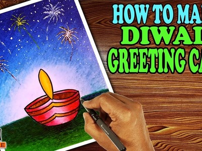 Very Easy, Simple and Most Beautiful Handmade Diwali Greeting Cards for Kids in Step by Step Methods