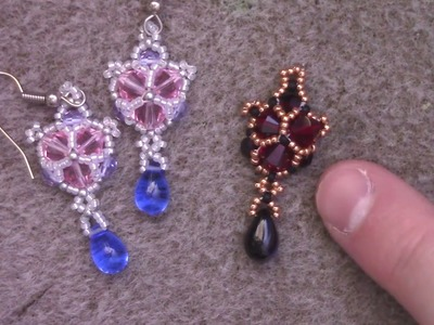 Winter Sparkle Crystal Beaded Earrings - A Jewelry Tutorial by Aura Crystals