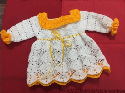 Woollen Crochet Frock for 6 months to 1year baby