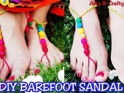 Barefoot Sandal Tutorial.Navratri or Garba foot Jewellery making.Navratri Special