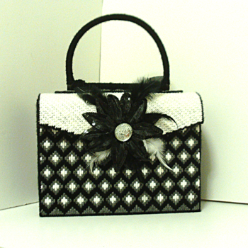 Black and White Bargello Handbag