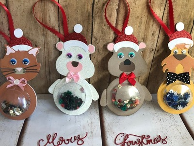 Christmas shaker tags tutorial Polkadoodles project share