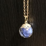 Cracked Marble Necklace (Blue)