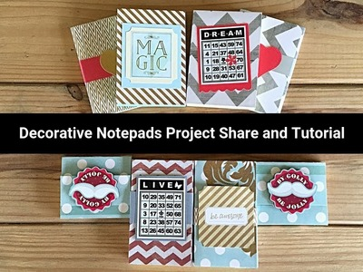 Decorative Note Pads Project Share and Tutorial - Using Up a Whole Paper Pad