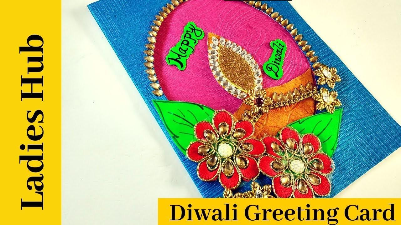 diwali greeting card diy diwali card easy to make diwali