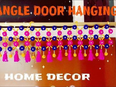 DIY Door hanging.waist of bangles and woolen.Diwali decoration idea
