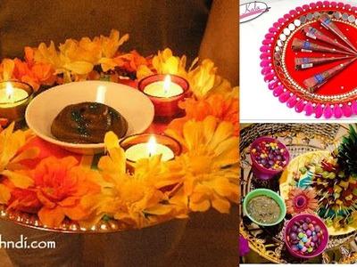 DIY || Mehendhi thaal decoration for wedding || mehendhi plate decoration
