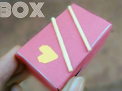DIY Miniature Gift Box using matchbox. Kids Crafts. Best out of waste. Toys from Trash