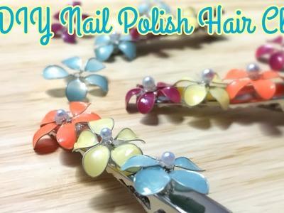 DIY Nail Polish Hair Clip. Cara Membuat Jepit Rambut dari Cat Kuku