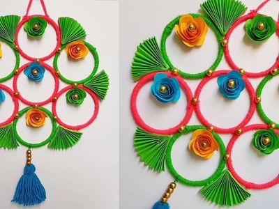 DIY || Old bangles reuse idea | Best wall hanging idea with waste bangles
