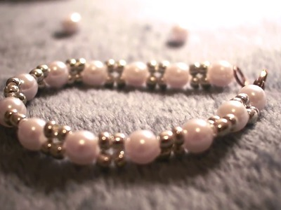 DIY pearl beaded bracelets | easy to make | simple and pretty.