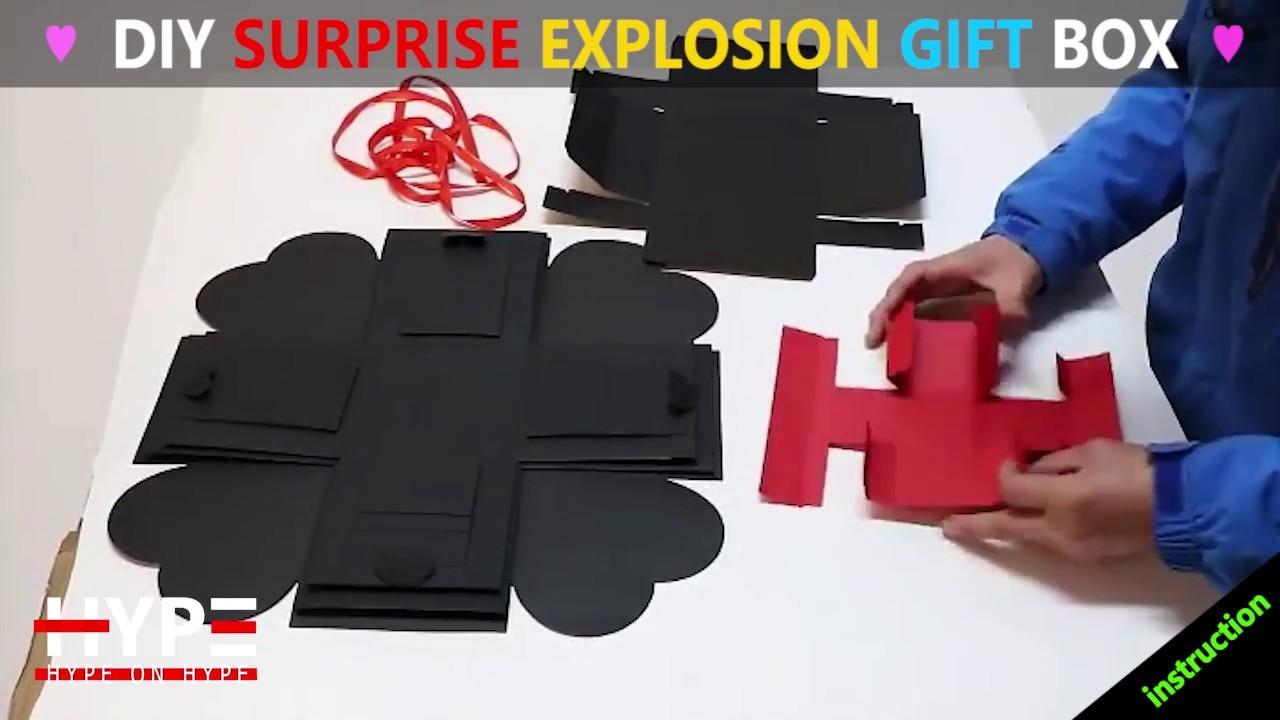DIY Surprise Explosion Gift Box Instruction
