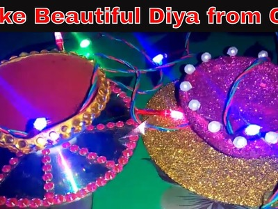 Diya Decoration ideas for Diwali,Beautiful Diwali Decorations,DIY- How to Diya Decoration at Home
