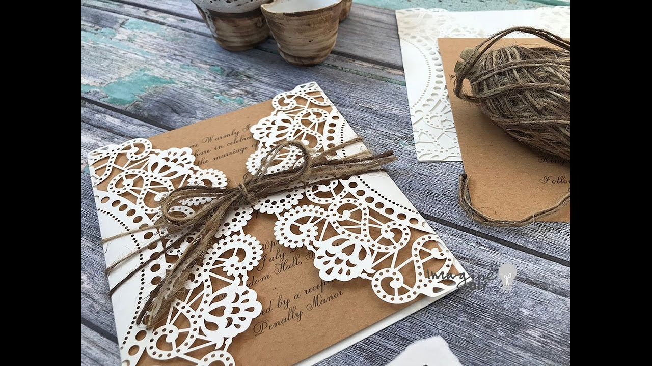 Easy DIY Wedding Invitations - How to Make Your Own Rustic Wedding Invitations
