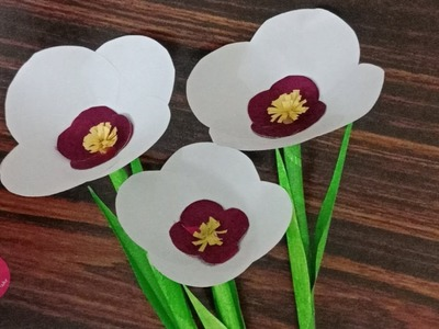 Easy flower making tutorial using waste notebook paper or copy paper| Best from waste