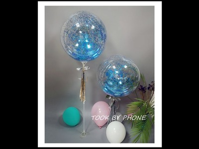 How to DIY a blue glitter balloon to decoration frozen theme party