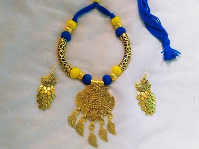 How to make oxidized neckpiece at home|| Pujaa Tutorial ||