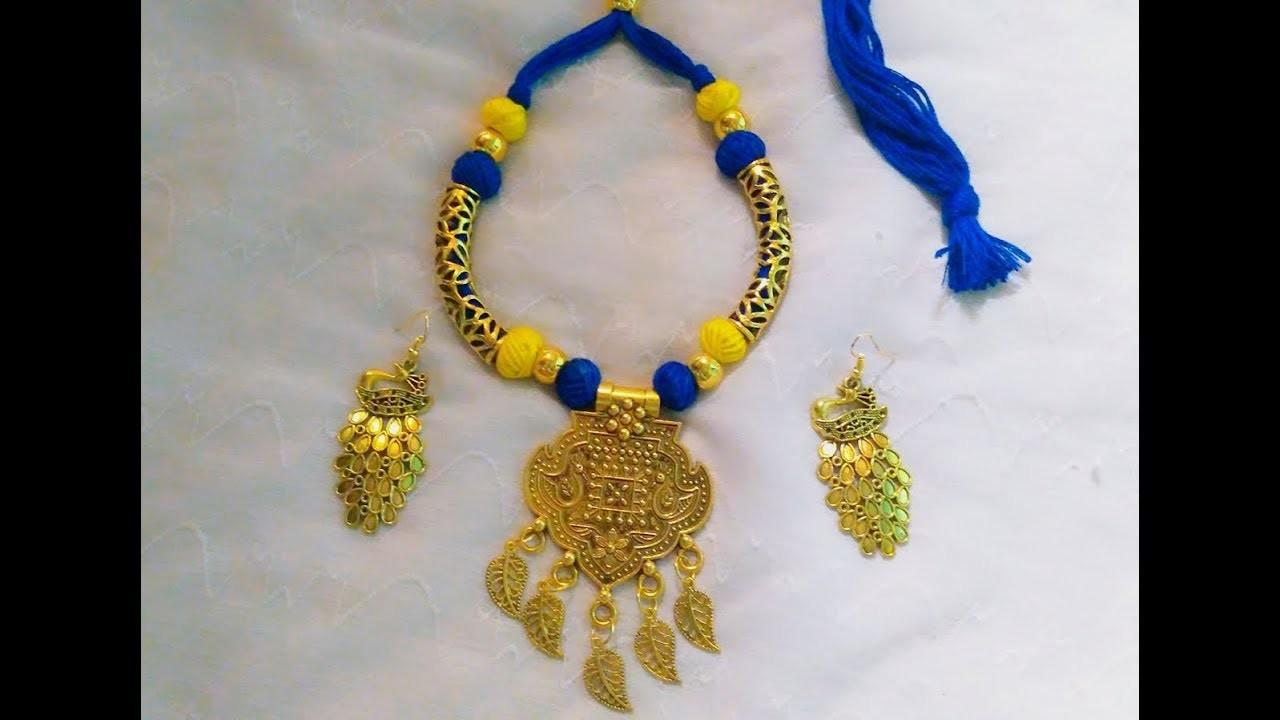 How to make oxidized neckpiece at home|| Pujaa Tutorial ||