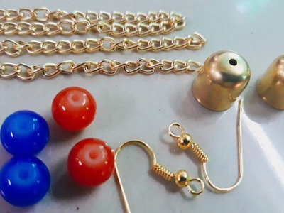 HOW TO MAKE WOLLEN THREAD TESSEL PART WEAR.HANDMADE JEWELLERY.HOORIYA STYLE