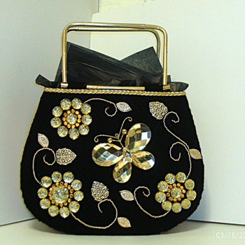 Jeweled Butterfly Handbag