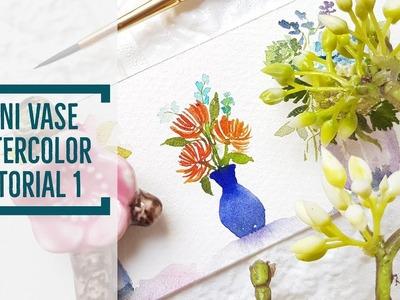 Mini Vase Watercolor Tutorial 1