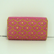 Pink and Gold Jeweled Clutch/Purse