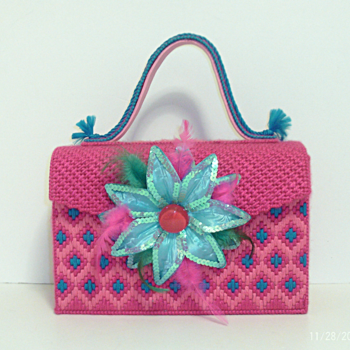Pink and Turquoise Handbag
