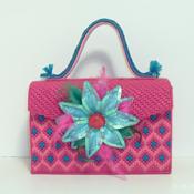 Pink and Turquoise Handbag